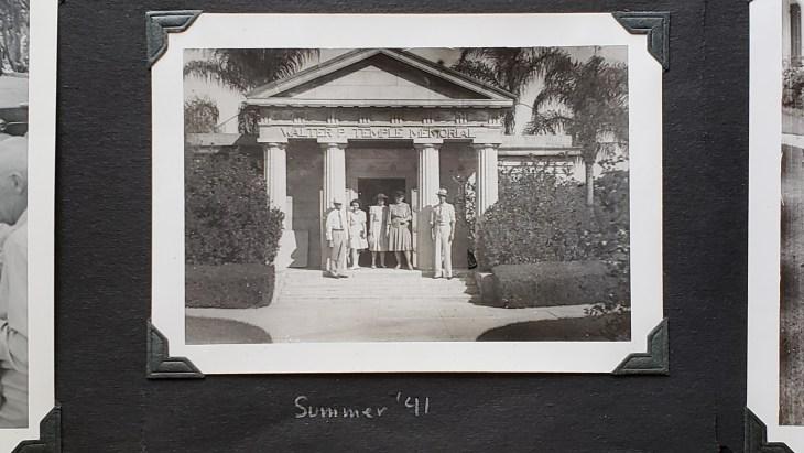 Jackson photo mausoleum and caption 1941
