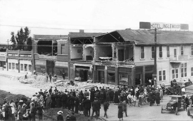 RPPC Earthquake Damage At Hotel Inglewood 2012.706.1.1