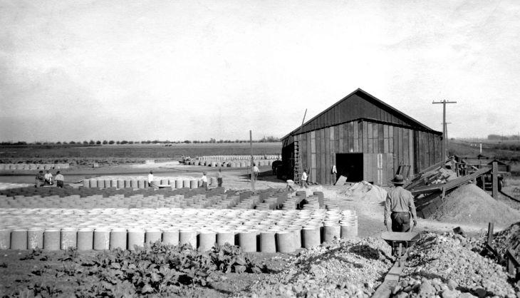Pipe Yard And Barn Brick Yard Cudahy Ranch Florence Los Angeles