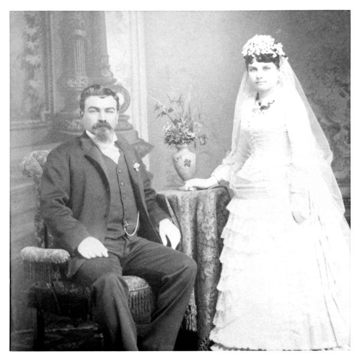 John H And Anita Temple Wedding Portrait 1886 80.19.90.1