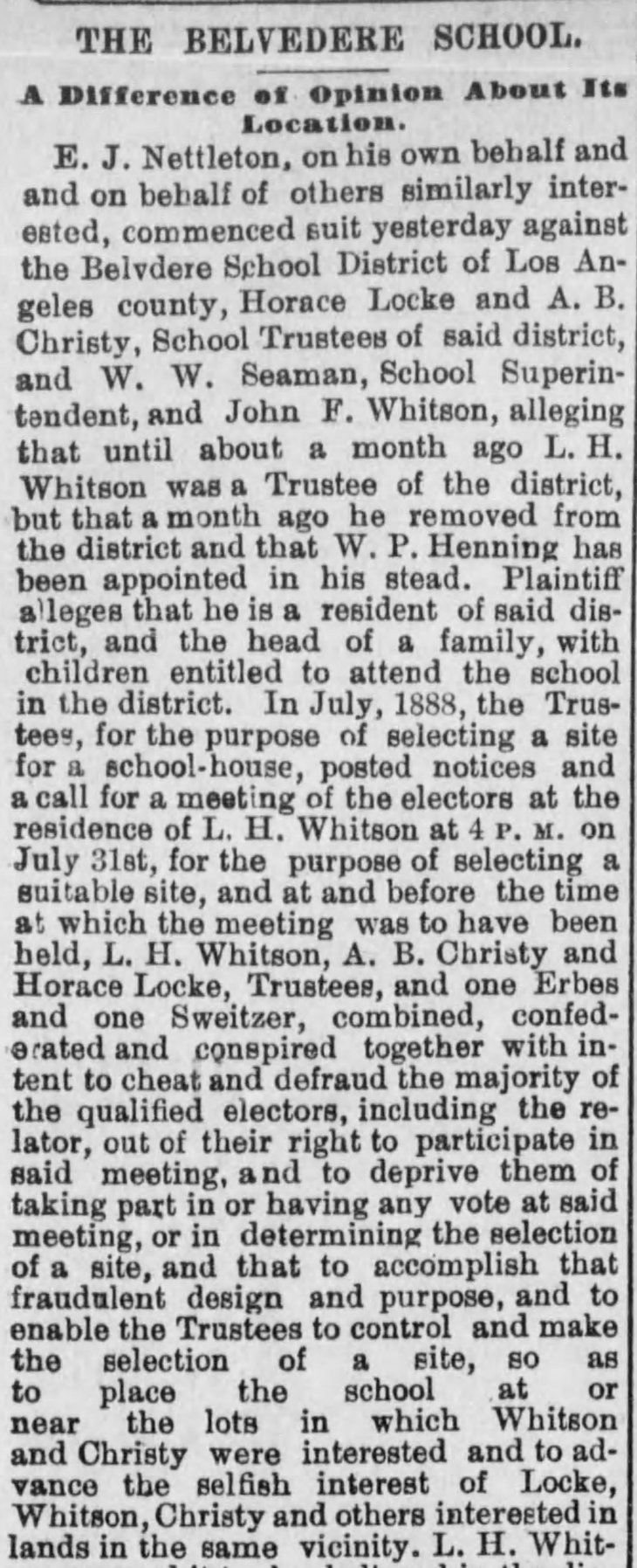 School site lawsuit Herald_Mar_24__1889_