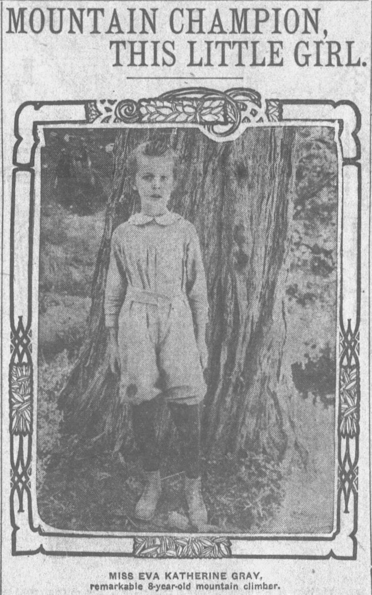 eva gray 8-yr old mtn climber times_aug_5__1906_