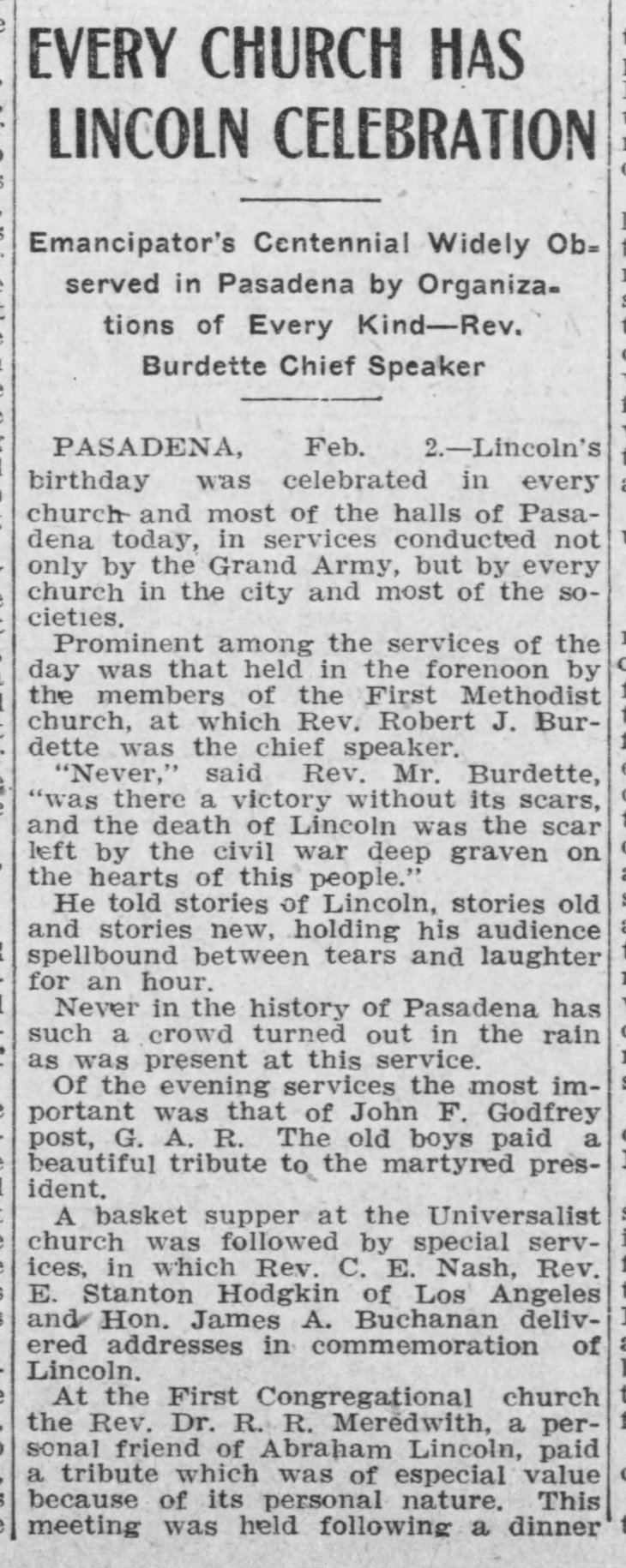 Church Celebration Herald_Feb_13__1909_