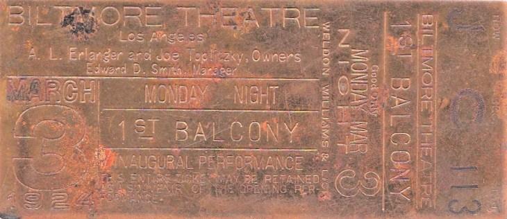 Biltmore Theatre opening ticket_20190301_0001