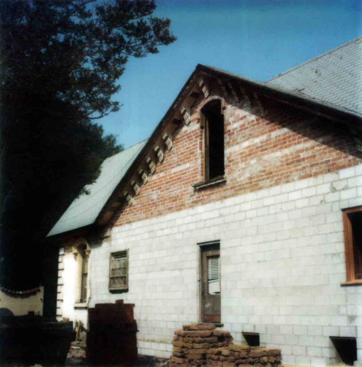 Workman House East Wall After Stabilization 99.5.33.806