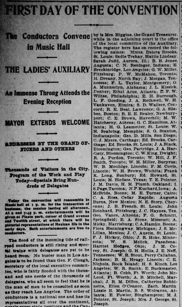 1st Day Convention Los_Angeles_Herald_Wed__May_12__1897_
