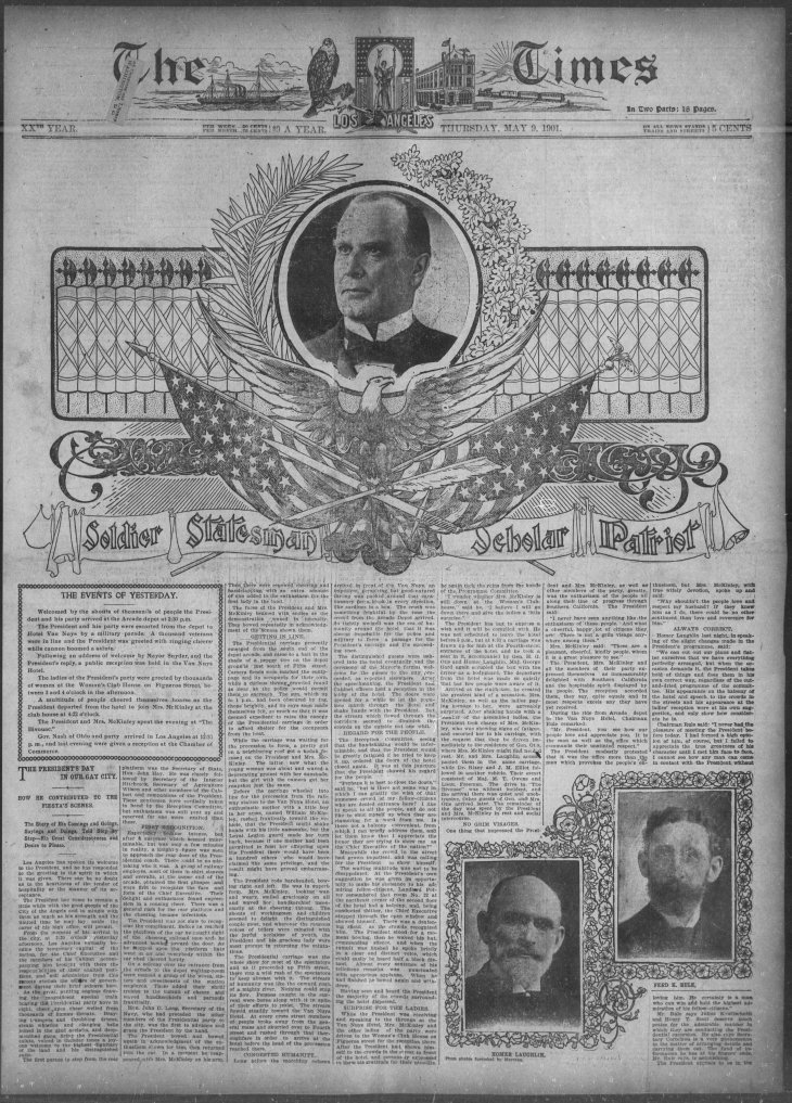 Full page McKinley The_Los_Angeles_Times_Thu__May_9__1901_