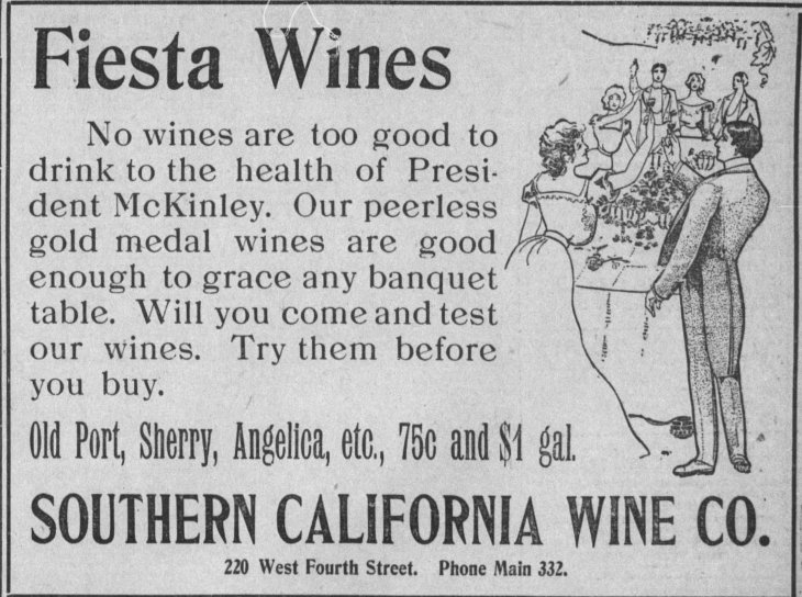 Wine ad McKinley The_Los_Angeles_Times_Fri__May_10__1901_
