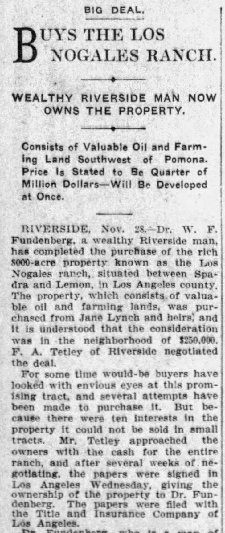 Fundenberg Los Nogales The_Los_Angeles_Times_Sun__Nov_29__1908_