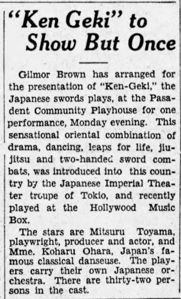 Ken Geki Pasadena The_Los_Angeles_Times_Wed__Jul_11__1928_
