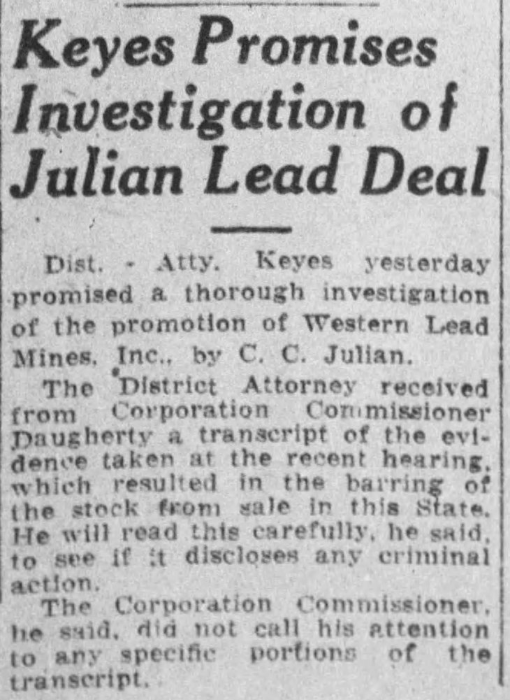 Keyes Western Lead investigation The_Los_Angeles_Times_Wed__Jun_2__1926_