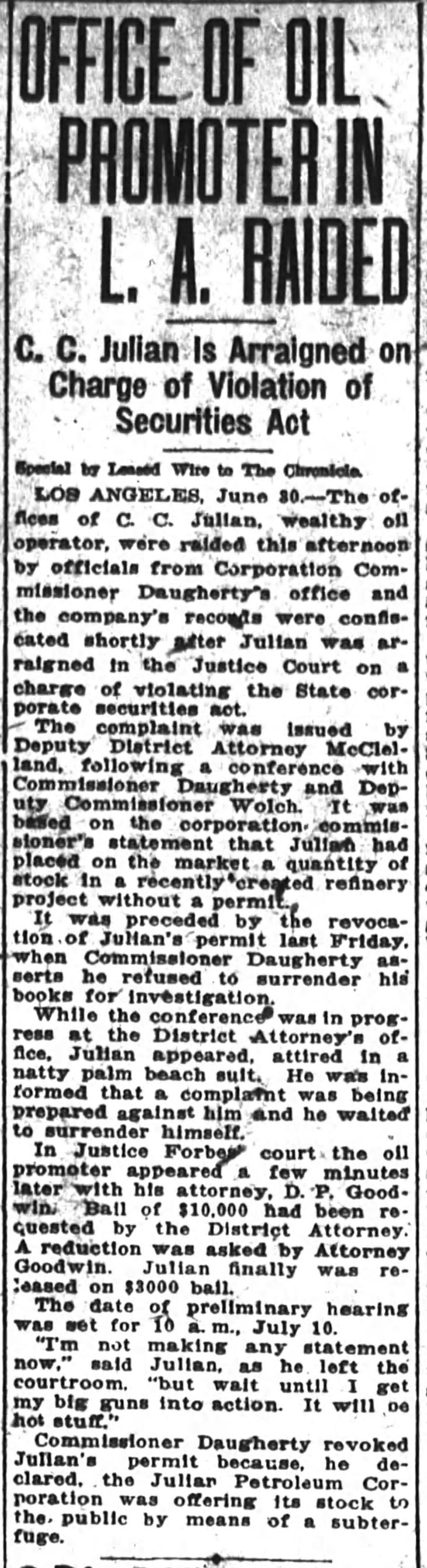 Raid Arraignment San_Francisco_Chronicle_Sun__Jul_1__1923_