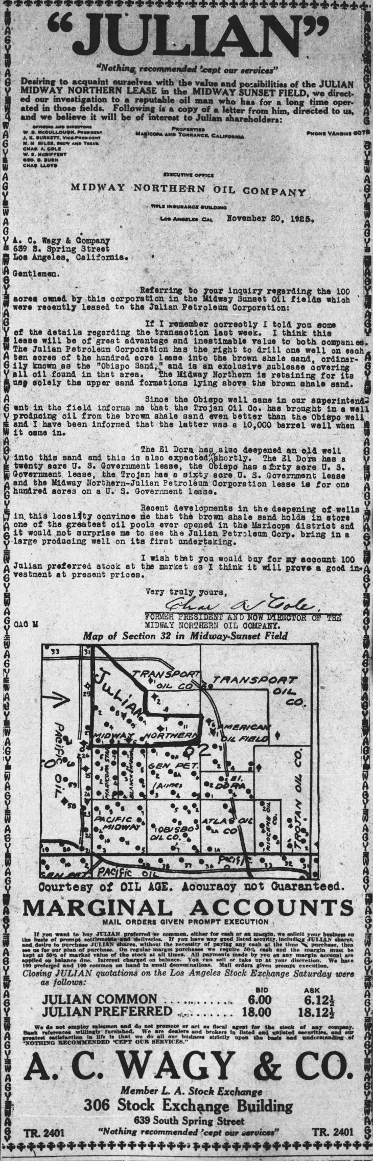 Wagy ad Julian The_Los_Angeles_Times_Sun__Nov_22__1925_