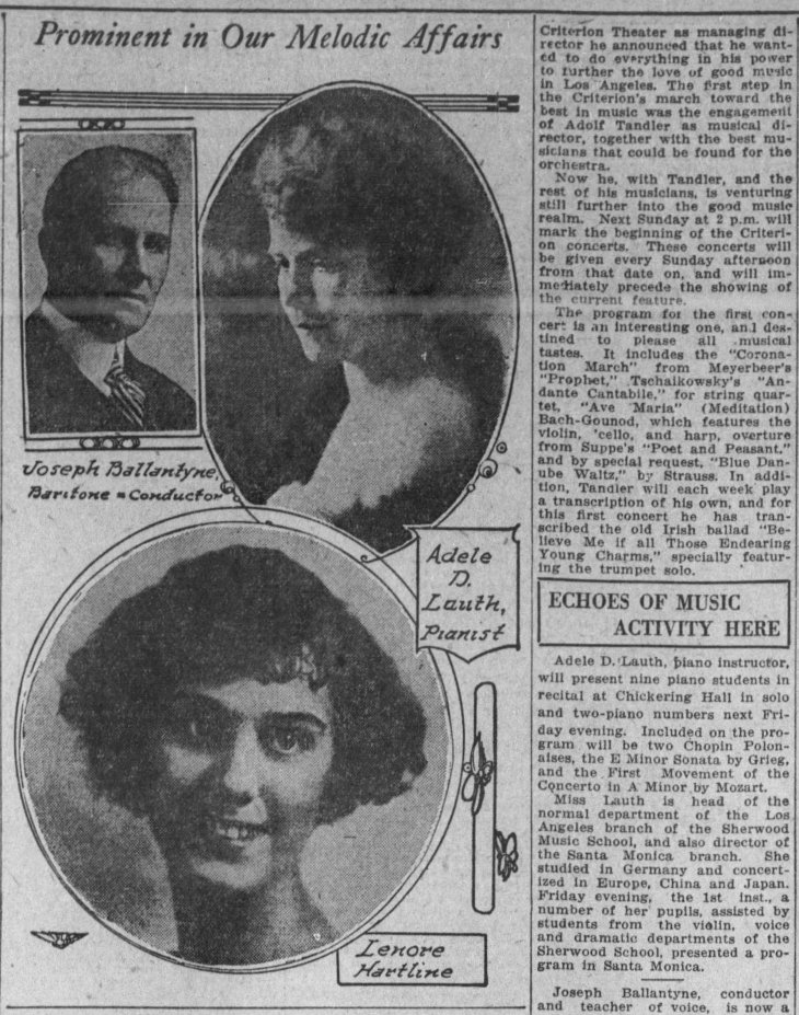 Adele D Lauth photo concert The_Los_Angeles_Times_Sun__Feb_10__1924_