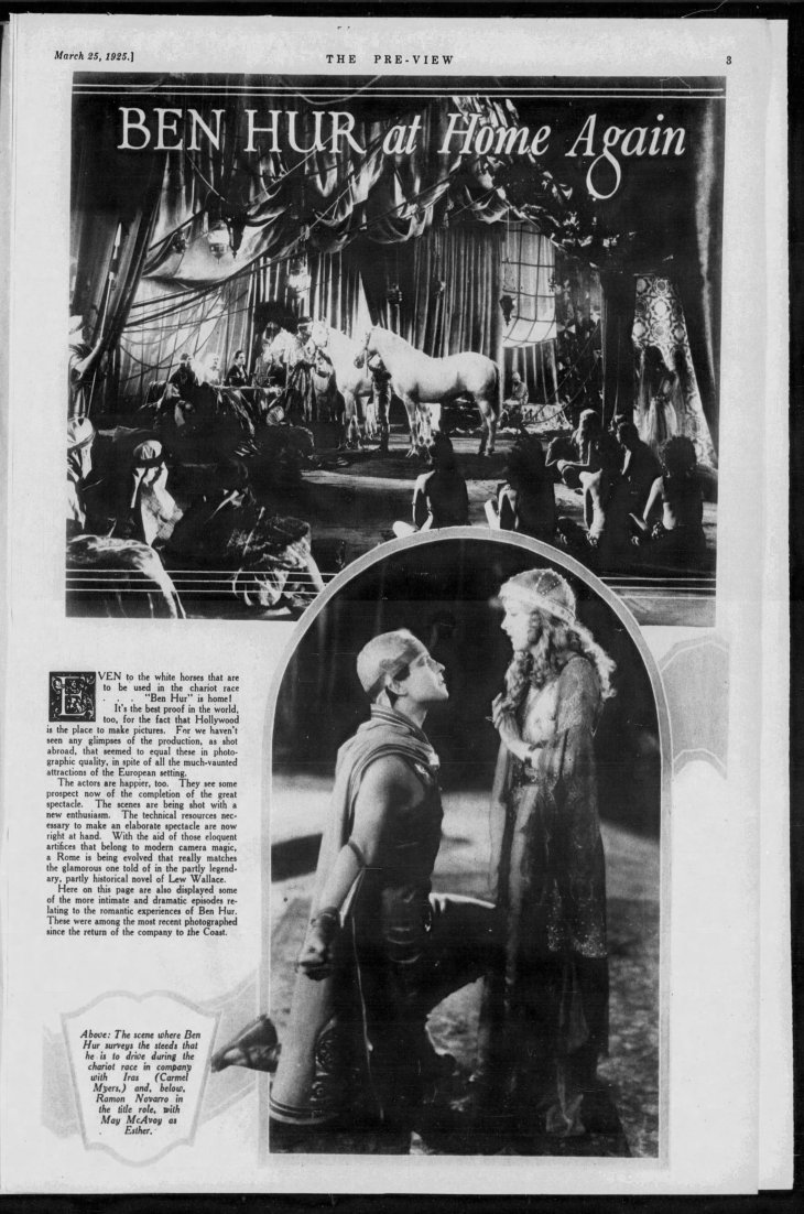 Ben Hur at Home Again The_Los_Angeles_Times_Wed__Mar_25__1925_