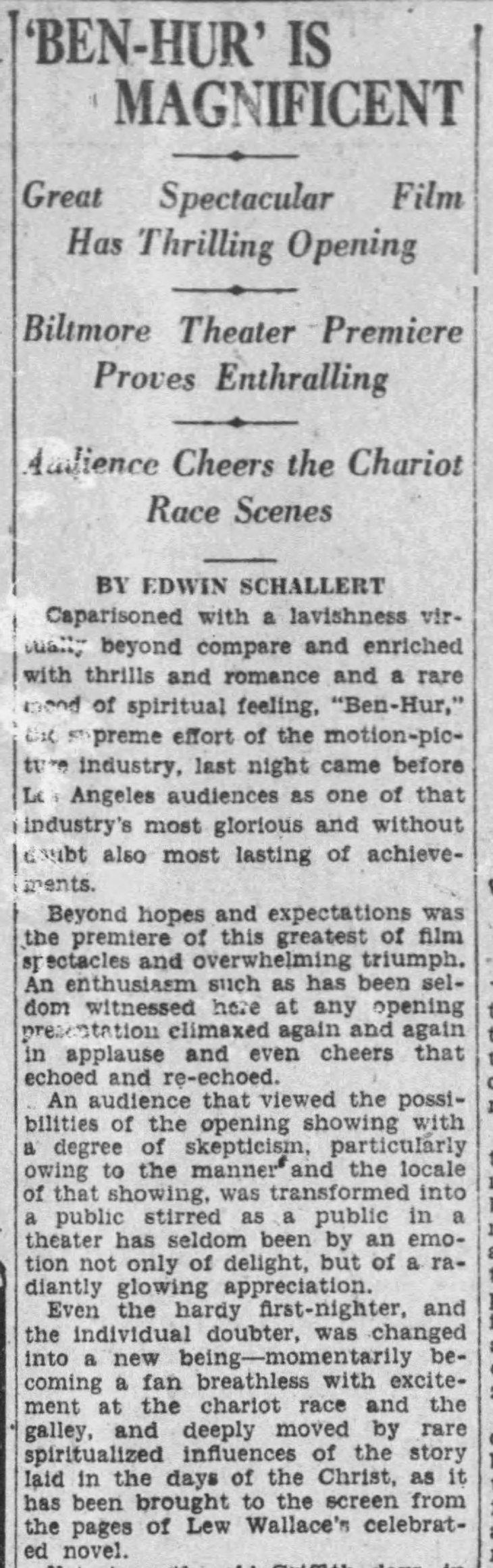 Ben Hur LA review The_Los_Angeles_Times_Tue__Aug_3__1926_