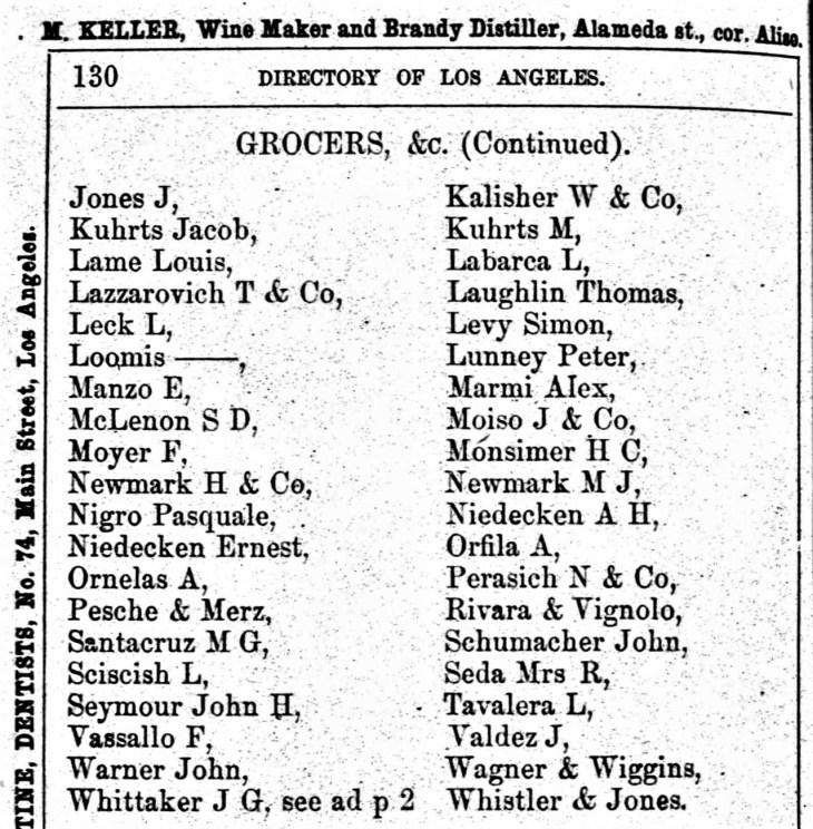 Antonio Orfila 1875 LA Directory