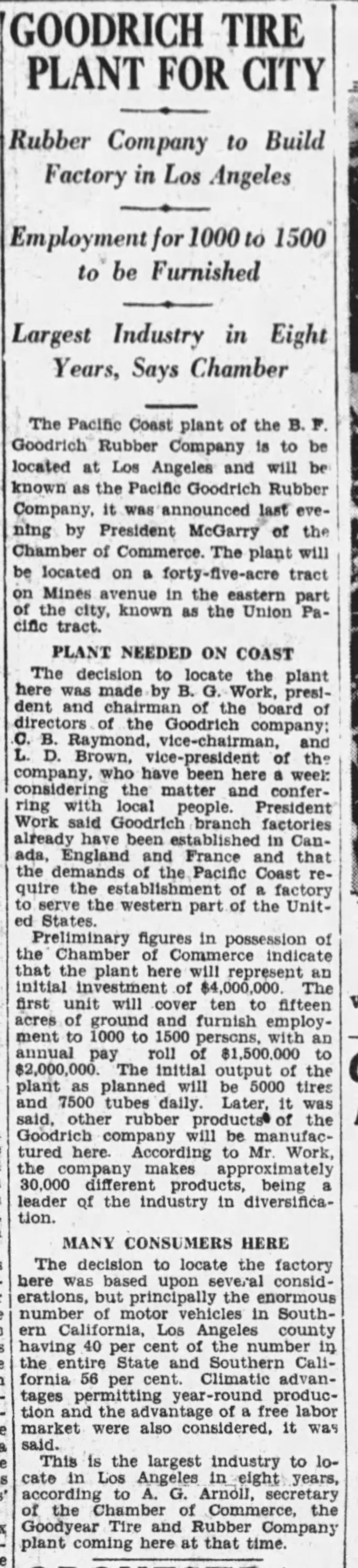Goodrich plant announcement The_Los_Angeles_Times_Tue__May_10__1927_