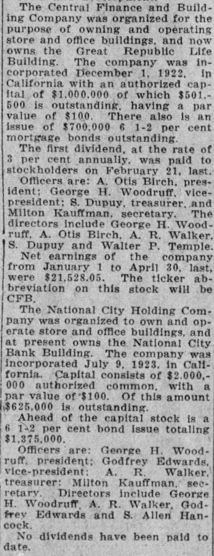 Central Finance National City stock listings The_Los_Angeles_Times_Sat__Jun_20__1925_