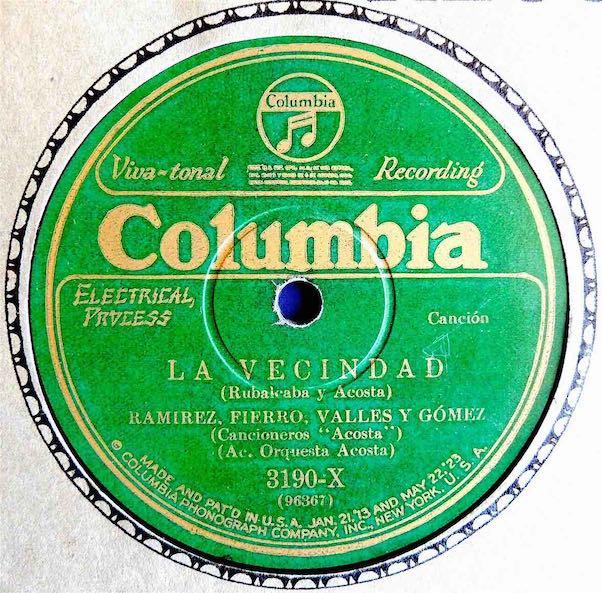 Image 2 Cancioneros Acosta Columbia Label c1928