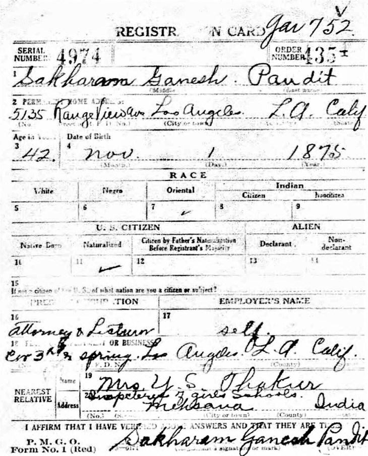 WWI Reg 12Sep18