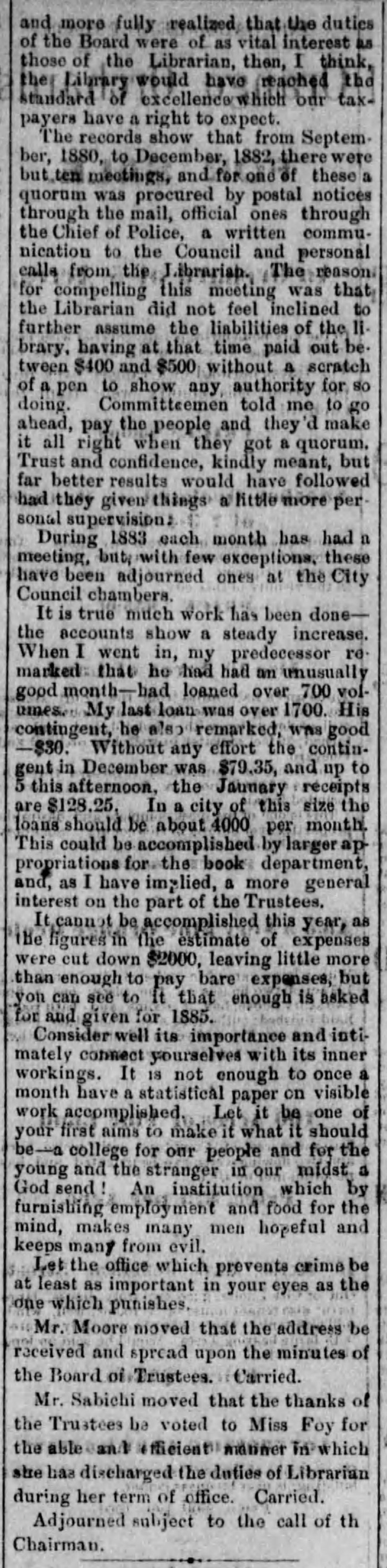 Foy comments Los_Angeles_Herald_Tue__Jan_29__1884_