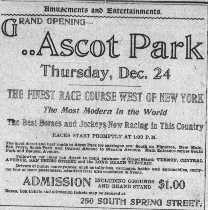 Ascot Park ad The_Los_Angeles_Times_Sun__Dec_20__1903_