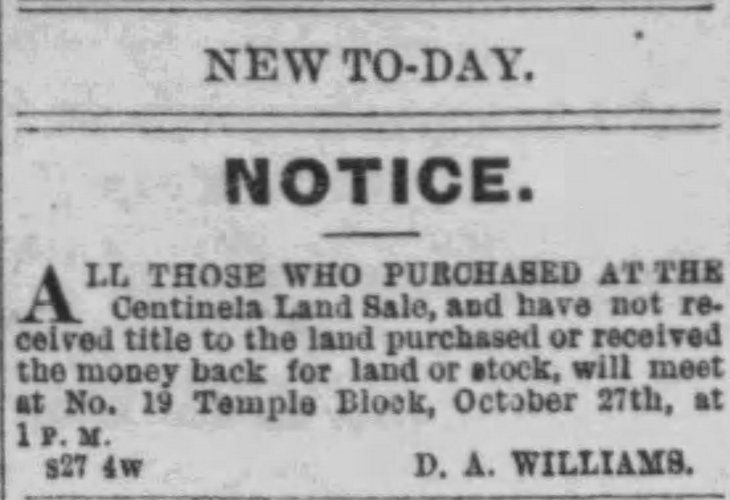 Centinela title money back ad The_Evening_Express_Thu__Sep_27__1877_
