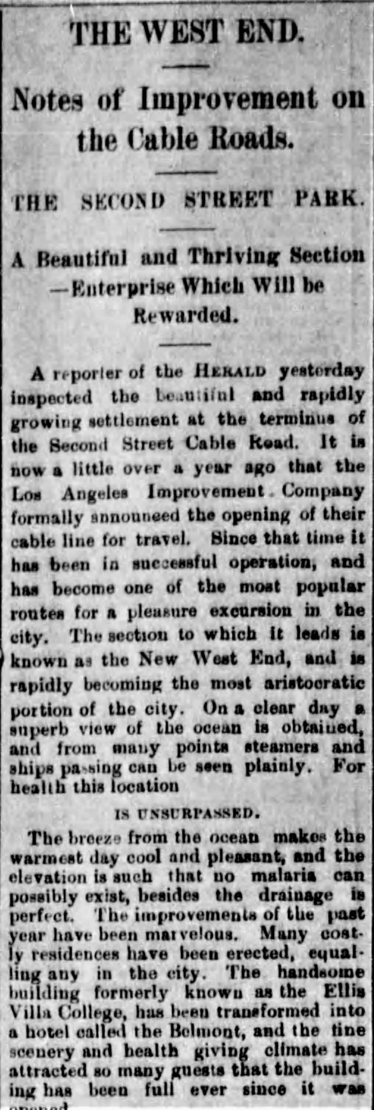 LAICO The West End Los_Angeles_Herald_Sun__Aug_15__1886_