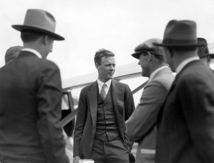 Press Photo Charles Lindbergh Inspects New Air Mail Planes 2011.