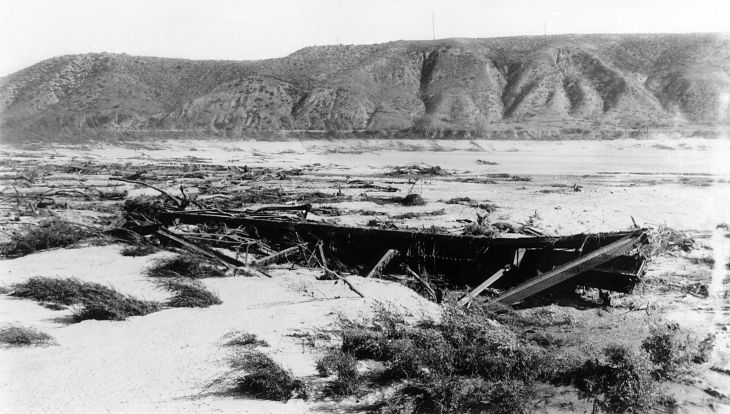 A Snapshot Of Flood Damaged Area From St Francis Dam Disaster Lo