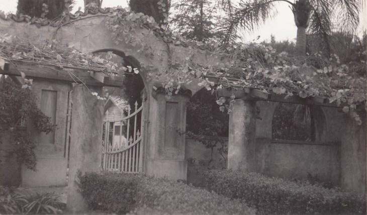Photo 8 Mission Walkway, East Gate, ca. 1941.
