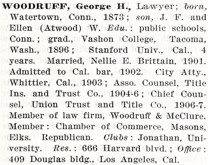 Who's Who Pacific Coast 1913