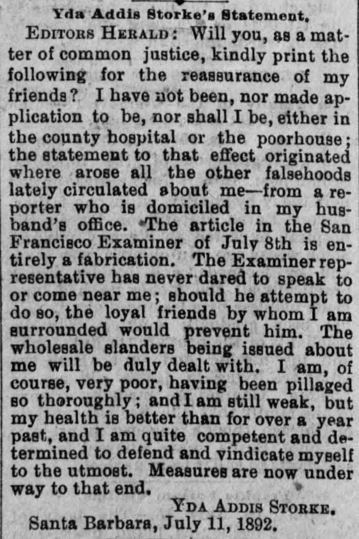 Yda letter Los_Angeles_Herald_Sat__Jul_16__1892_