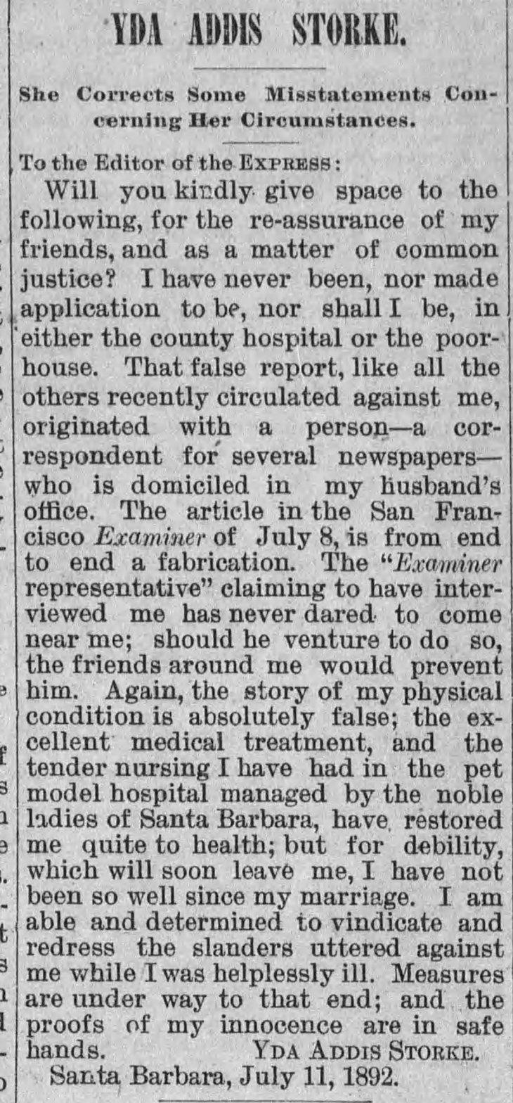Yda letter re Examiner The_Evening_Express_Fri__Jul_15__1892_