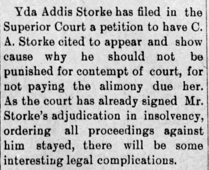 Yda Storke insolvency Daily_Independent_Wed__Feb_20__1895_