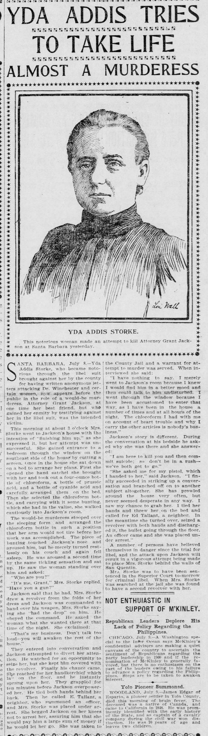 Yda suicide murder attempts The_San_Francisco_Call_Mon__Jul_10__1899_