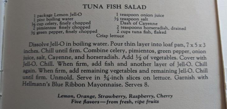 2 Jello Tuna Recipe