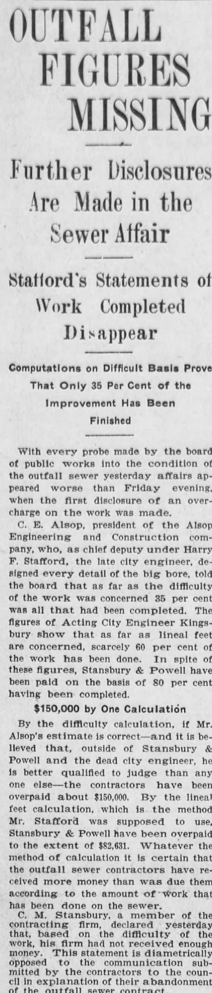 Stafford outfall sewer overpayment Los_Angeles_Herald_Sun__Aug_12__1906_