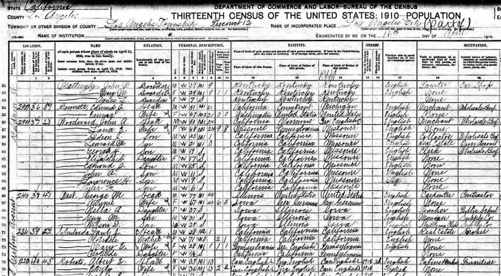Sepulveda 1910 census
