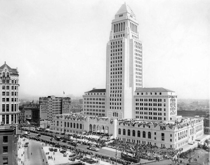 Los Angeles City Hall Dedication Ceremony and Parade 2014.545.1.