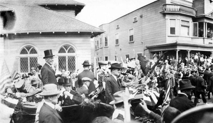 President Woodrow Wilson In Parade Los Angeles 2015.356.1.1