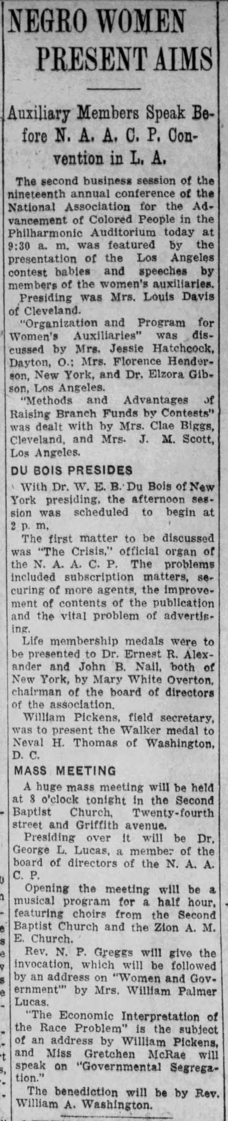 NAACP meeting Los_Angeles_Evening_Express_Fri__Jun_29__1928_