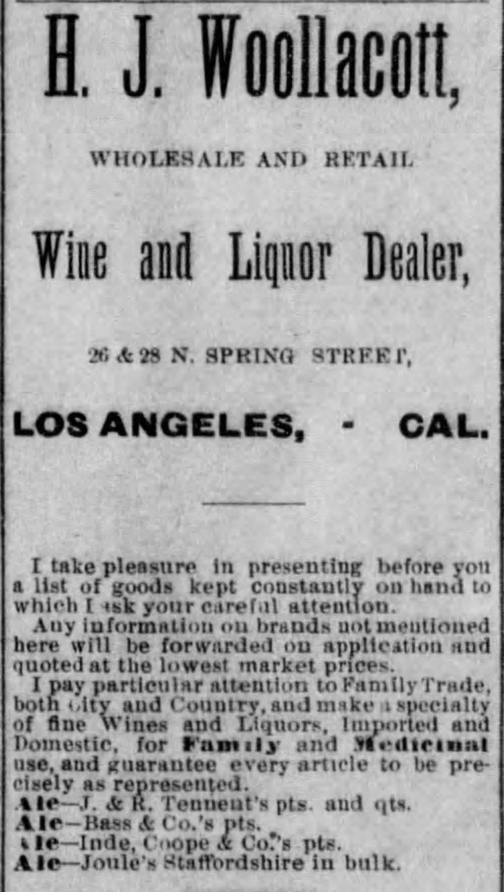 Woollacott ad Los_Angeles_Herald_Sun__Dec_20__1885_