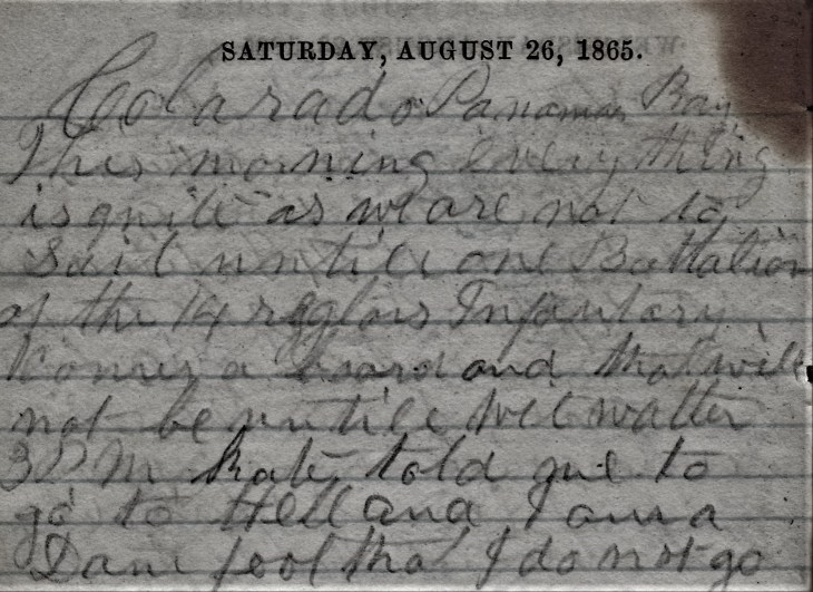 Jenkins diary August 26-31
