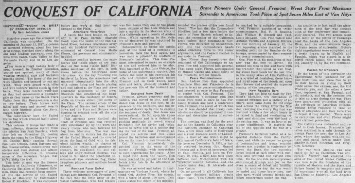 Johnstone Jones article Conquest of California The_Van_Nuys_News_and_the_Van_Nuys_Call_Fri__Aug_30__1912_