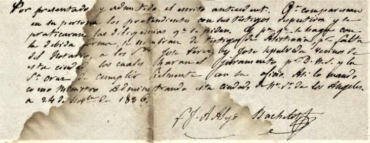 Williams Lugo church record 1836