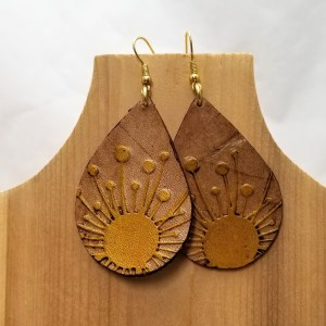 Yellow Dandelion Drop Earrings