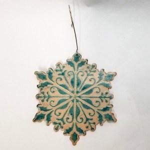 Elegant Snowflake Christmas Ornament