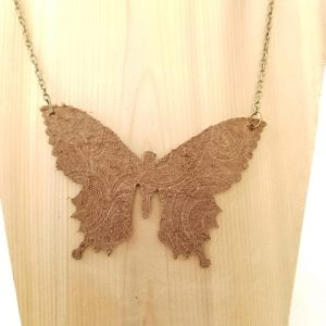 Swallowtail Butterfly Necklace - Back